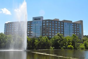 The Westin Washington Dulles Airport, just across the county line in Fairfax. (Renss Greene/Loudoun Now)