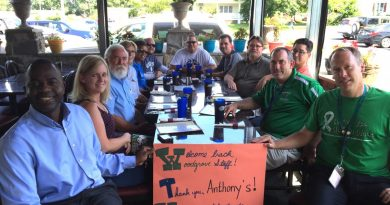Anthony's was one of 12 restaurants that helped welcome Woodgrove High School teachers back to work. (Courtesy of Geri Fiore)