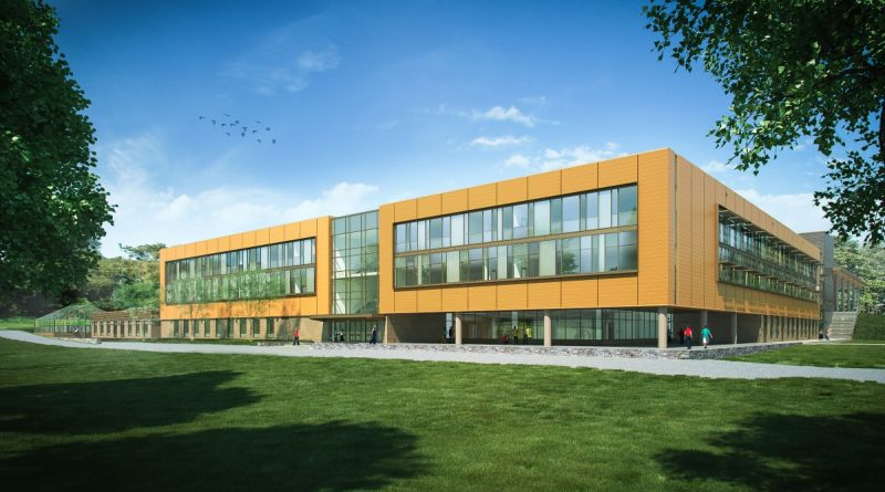 The Academies of Loudoun, seen here in a rendering, is slated to open in the fall of 2018. (Stantec Architects)