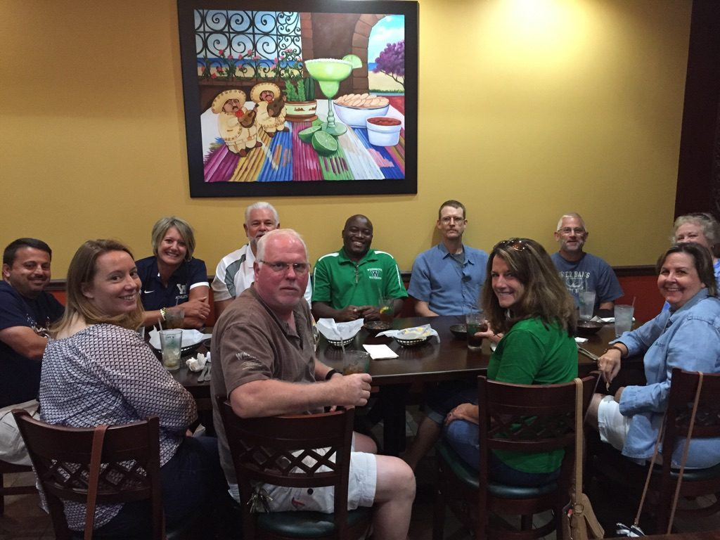 Woodgrove teachers at Casa Tequila. (Courtesy of Geri Fiore)