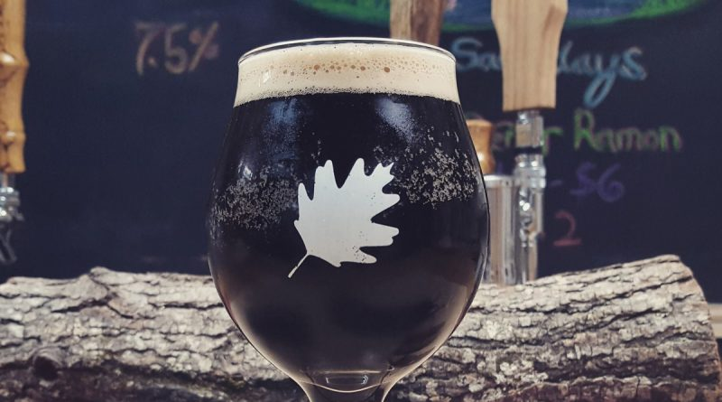 One of Crooked Run's latest brews on tap, Machismo, brewed with vanilla, cinnamon and chocolate. [Courtesy of Crooked Run Brewing]