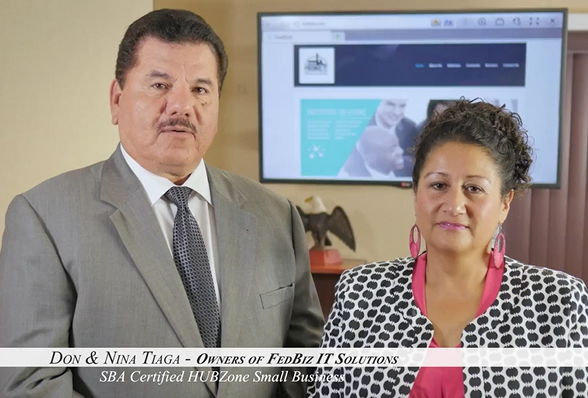 Don and Nina Tiaga, owners of FedBiz IT Solutions (Town of Leesburg)