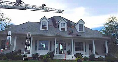 Lightning Hits Bluemont Home, Residents Displaced  [LCFR photo]
