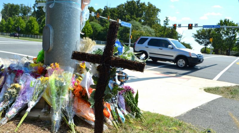 Five-month-old Tristan Schulz was being pushed in a stroller when he was struck and killed in this crosswalk Aug. 31. [Danielle Nadler/Loudoun Now]