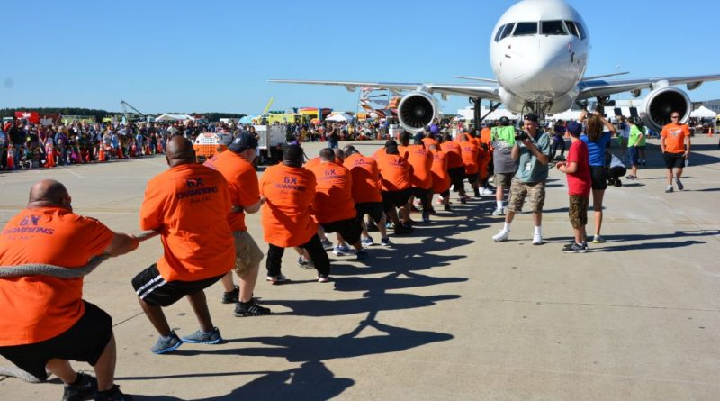 Dulles Plane Pull  [MWAA photo]
