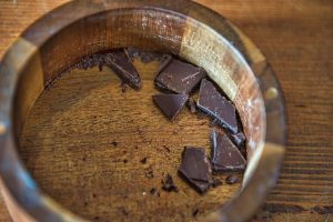 Tightrope Chocolate Co. uses a blend of 70 percent cacao and 30 percent sugar. [Douglas Graham/Loudoun Now]