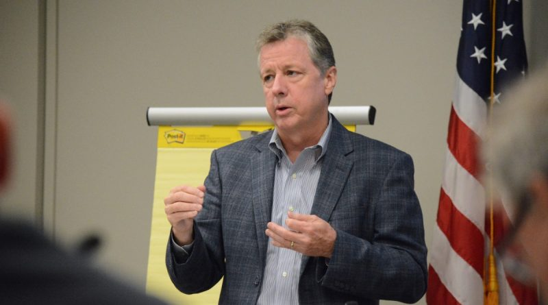 McBride Dale Clarion planner and cofounder C. Gregory Dale discusses challenges facing county planners in their effort to update the Comprehensive Plan.   (Renss Greene/Loudoun Now)