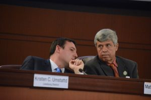 Supervisor Matthew F. Letourneau (R-Dulles) and board Vice Chairman Ralph M. Buona (R-Ashburn). (Renss Greene/Loudoun Now)