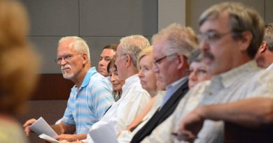 Francis Ranschen, among other Greggsville Road property owners, at the Board of Supervisors public hearing Wednesday, September 14. (Renss Greene/Loudoun Now)
