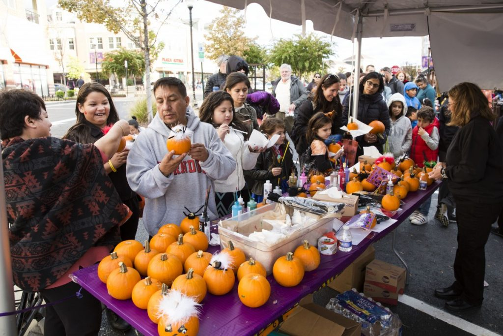 Complimentary pumpkins for decoration was provided by Wegmans and kids could paint and decorate them to take home. [Ali Khaligh/Loudoun Now]