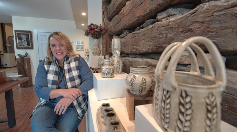 Amy Manson is a Leesburg-based ceramicist and organizer of the Catoctin Holiday Arts Tour. Her show with painter Laura Edwards kicks off Nov. 4 at the Cooley Gallery in Leesburg. [Douglas Graham/Loudoun Now]