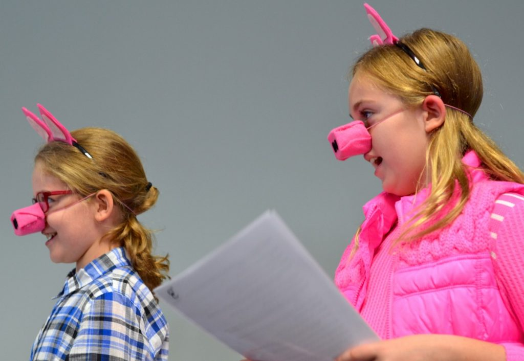 Students from Sanders Corner Elementary in Ashburn read at Books for Babies' 16th anniversary celebration. [Danielle Nadler/Loudoun Now]