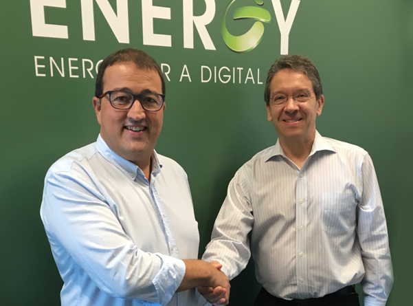 From left, Dennis Nordon, co-founder and vice president, and Mike Baris, director sales of Hanley Energy LLC.