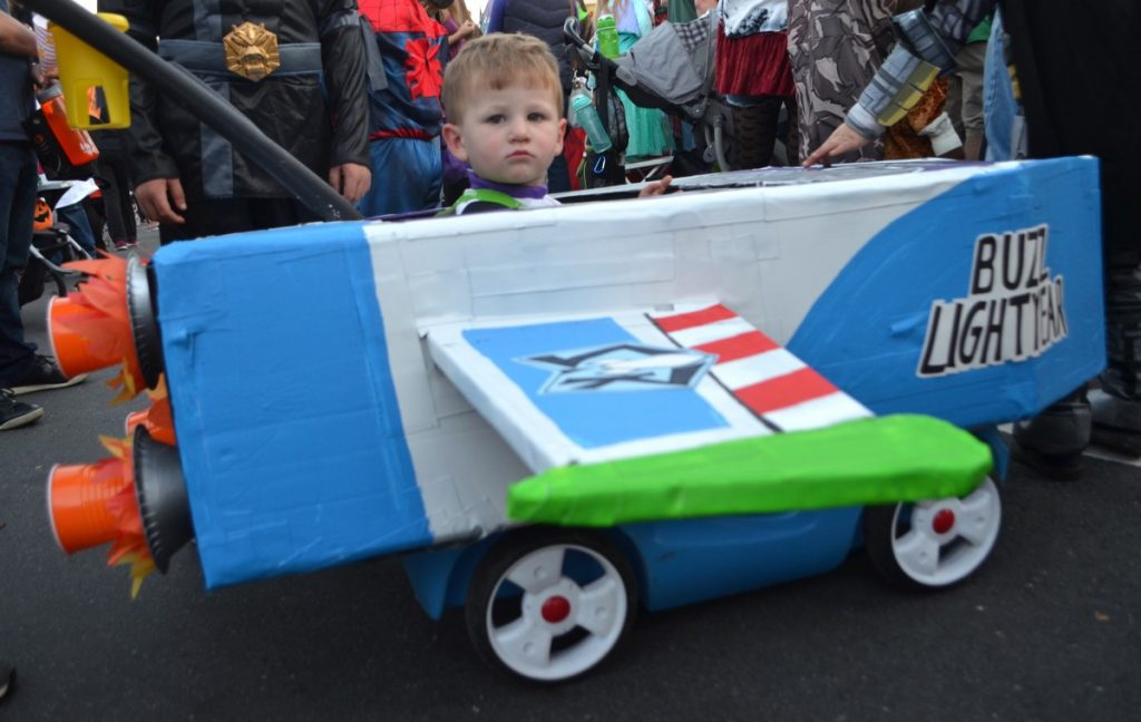 Two-year-old Joel went all out for Halloween. [Danielle Nadler/Loudoun Now]