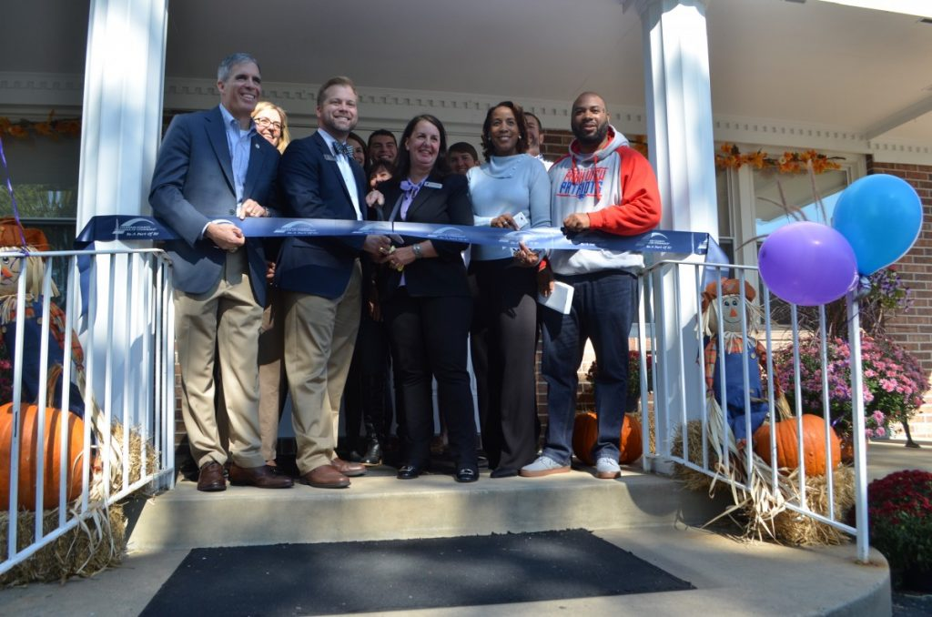 Local elected officials join YMCA Loudoun County directors at the new YMCA Loudoun County Youth Development Center. [Danielle Nadler/Loudoun Now]
