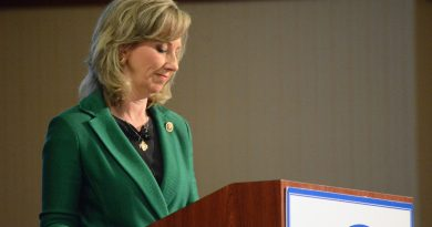 Rep. Barbara Comstock (R-VA-10) at a debate hosted by the Loudoun County Chamber of Commerce. (Renss Greene/Loudoun Now)