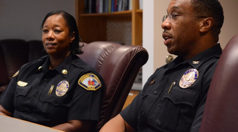 Gregory Brown stepped in as Leesburg's new police chief last week, taking the reins from Deputy Chief Vanessa Grigsby, who has served as interim chief since Joseph Price's retirement in March. (Renss Greene/Loudoun Now)