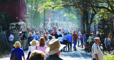 The normally quiet village streets are filled with crowds during the annual Waterford Fair. [Waterford Foundation]