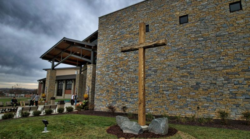 After holding services in a 30,000-square-foot building for 19 years, Cornerstone Chapel moves into its new 100,000-square-foot building on Battlefield Parkway in Leesburg on Sunday. [Douglas Graham/Loudoun Now]