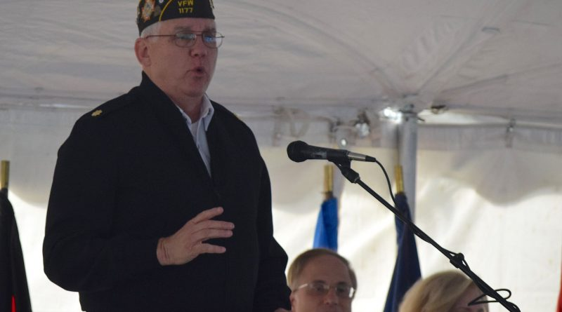 Maj. Dennis B Boykin was the master of ceremonies for the 2016 Veterans Day event at the Marshall House in Leesburg.