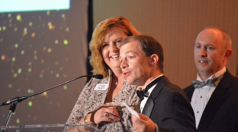 Loudoun Youth President and CEO Jared Melvin with founder Carol Kost.