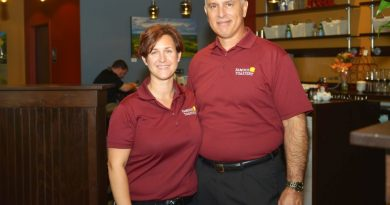 Angela and Scott Goodman are the owners of the new Ashburn location of Famous Toastery, one of four locations they plan to open in Loudoun County within the next four years. [Courtesy of Michael Vest]