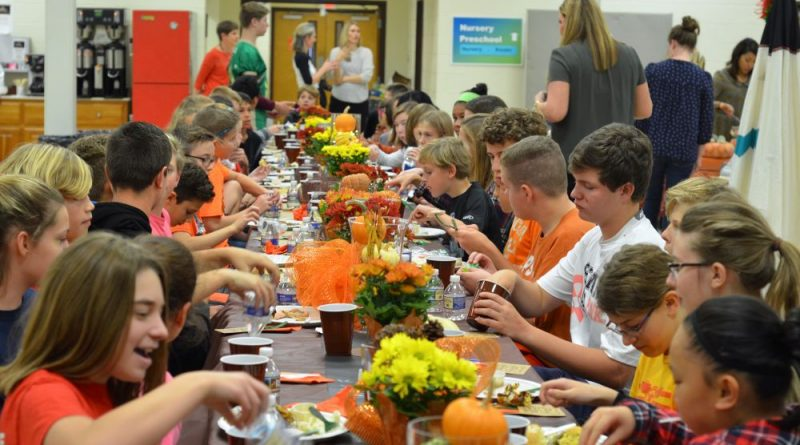 Providence Academy celebrates its fourth annual Thanksgiving Feast. [Danielle Nadler/Loudoun Now]
