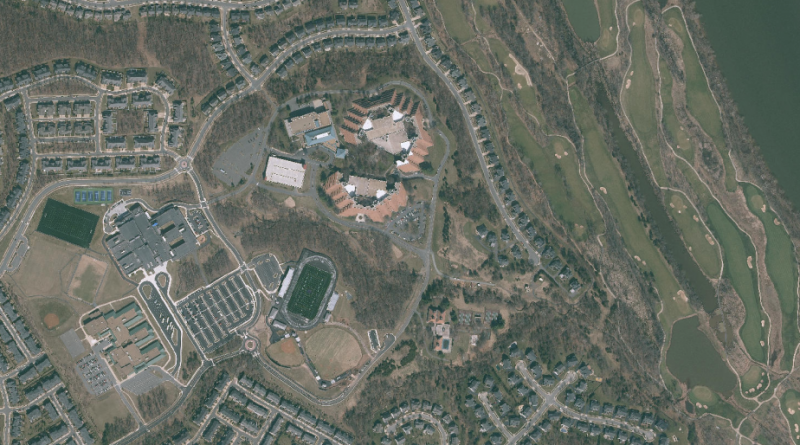 An aerial view of The National and its surrounding property. (Loudoun County GIS)