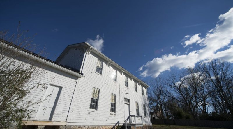 The building at 20 Union Street in Leesburg served the county's black students from the early 1880s to 1958. It's since been used for storage, but the school's alumni have plans to make it an educational hub once again. [Douglas Graham/Loudoun Now]