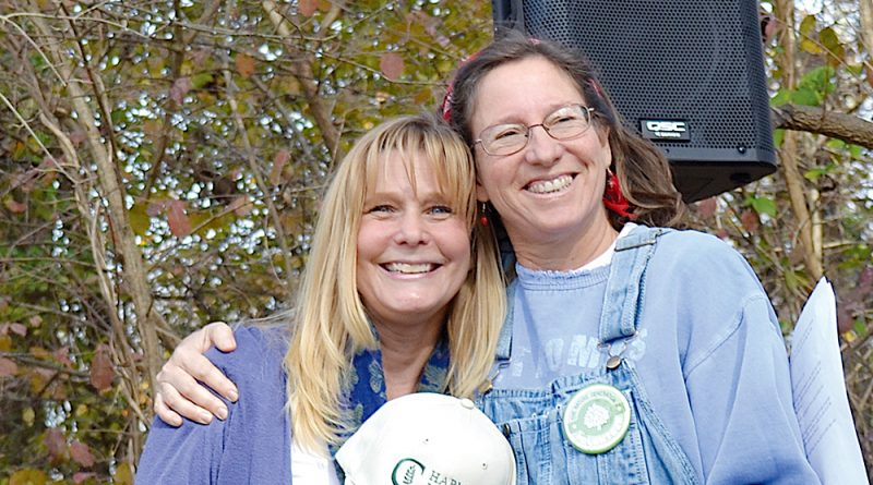 McGranahan Stewardship Award winner Gina Faber, right, with the Nature Generation's Teach Green Program Director Amie Ware. [The Nature Generation]