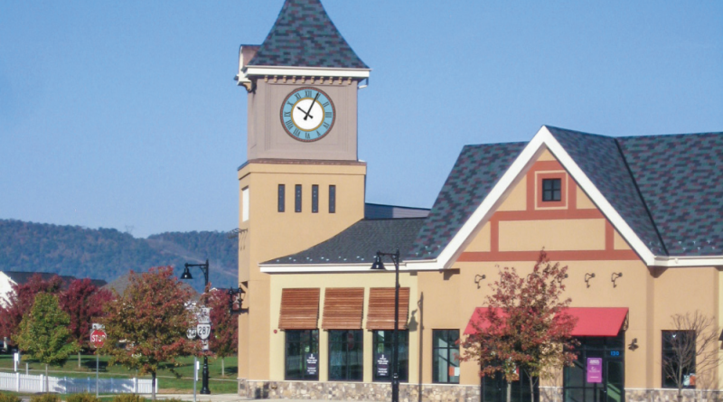A simulated vision of one of the clock faces to be installed at Lovettsville Square on Dec. 1.