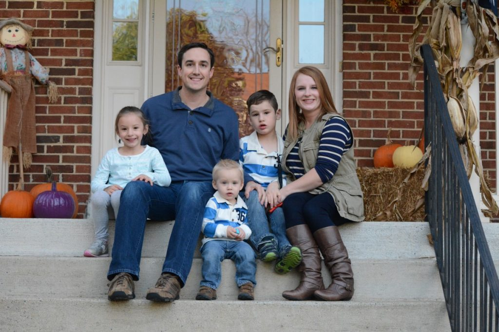 The Schnur family at their home in Leesburg. (Renss Greene/Loudoun Now)