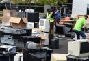 Pallets of E-Waste Recycled at Verizon Rally