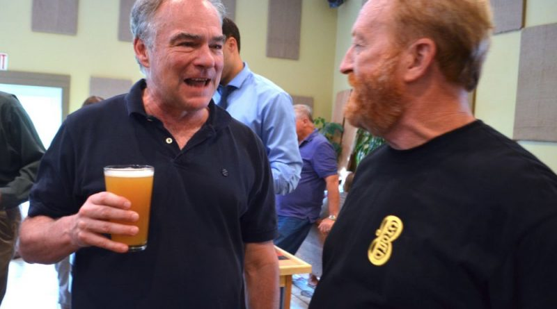 Kaine Stumps, Sips Beer, and Plays Bluegrass in Loudoun