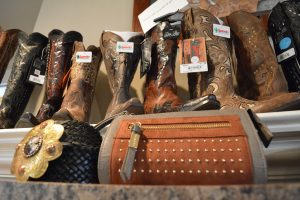 TheJeans Whisperer in downtown Leesburg showcases some of the styles that will be on parade at the May 18 Savvy Women of Northern Virginia fashion show. (Danielle Nadler/Loudoun Now)