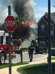 This fire caused an estimated $750,000 in damage to a Vacation Place home in South Riding.