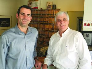 Dr. Bradley Clegg, left, with his dad, Dr. Charles Clegg.