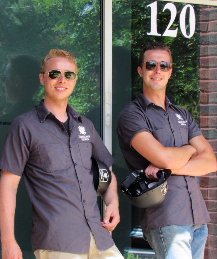 Jake Endres and Lee Rogan opened Crooked Run Brewing in 2013, when they were 25 years old. [Courtesy of Crooked Run Brewing]