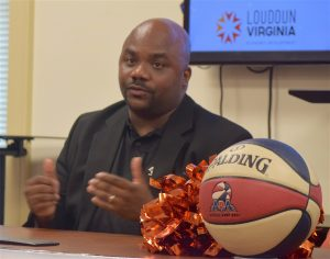 Norman Blowe discusses his plans for Loudoun's first professional basketball team, the ABA Virginia Storm.