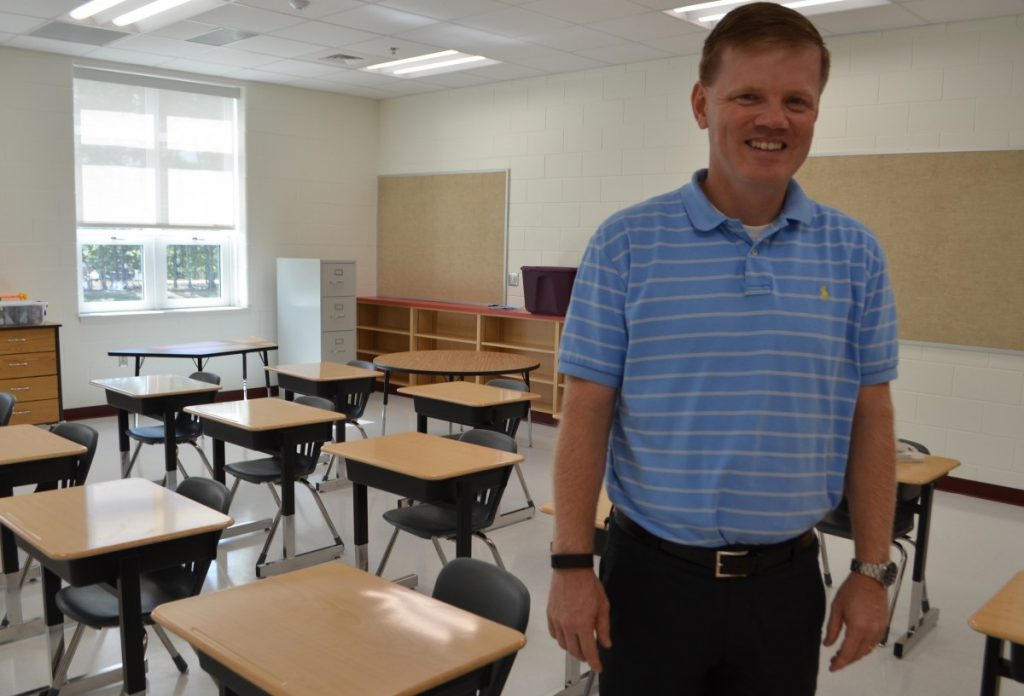 After leading Guilford Elementary in Sterling for 10 years, David Stewart took the position as principal at Madison's Trust Elementary as an opportunity to launch a new school. [Danielle Nadler/Loudoun Now]