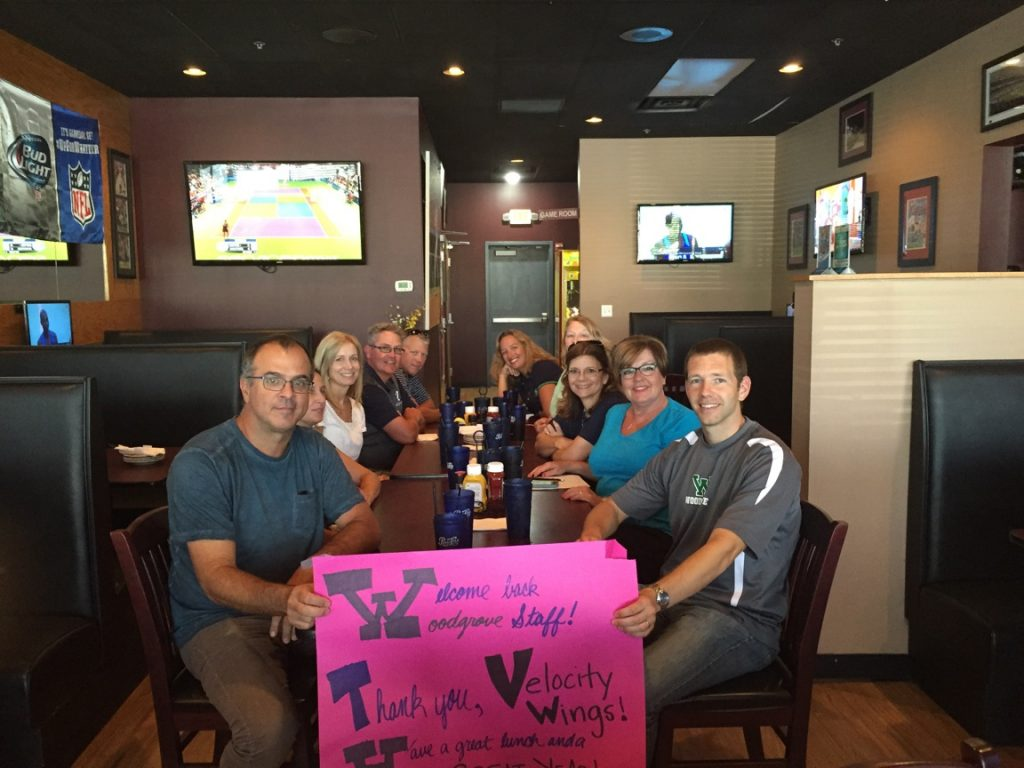 Woodgrove teachers at Velocity Wings. (Courtesy of Geri Fiore)