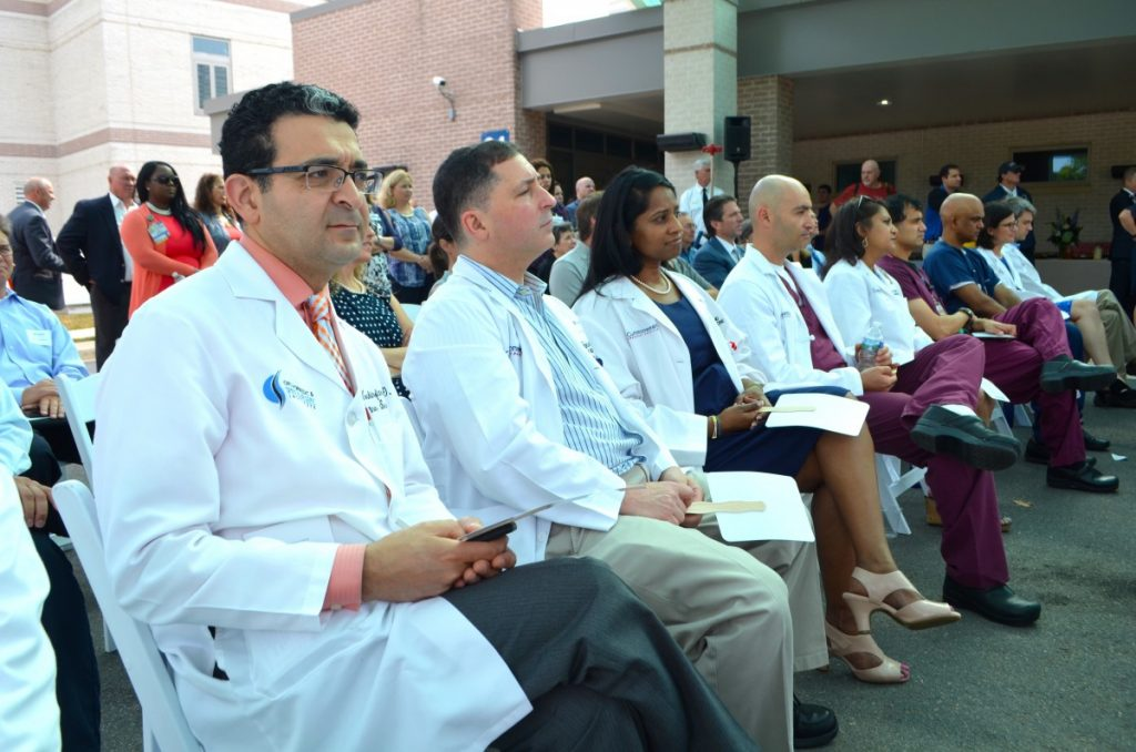 Members of the medical team were recognized for their work at Inova Loudoun Hospital. [Danielle Nadler/Loudoun Now]