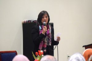 10th District candidate LuAnn Bennett answered voters' questions at the ADAMS Center in Sterling Oct. 21.