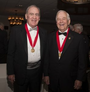 Thomas D. Horne and Loudoun Laurels Chairman Joe T. May pose during Friday's ceremony at Belmont Country Club. [Sarah Huntington]