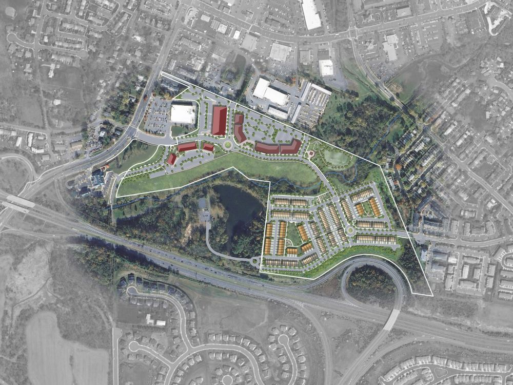 The approved illustrative concept plan for Crescent Parke.